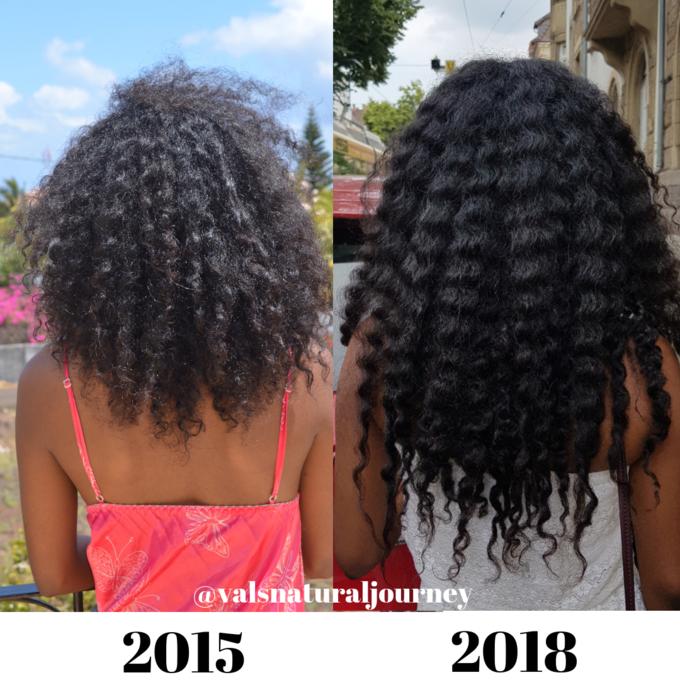 Témoignage de la croissance des cheveux