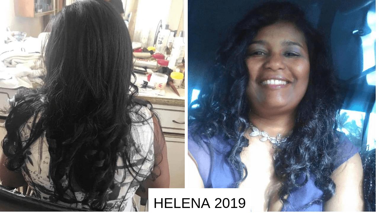 Transformation d'Helena de 2018 à 2019